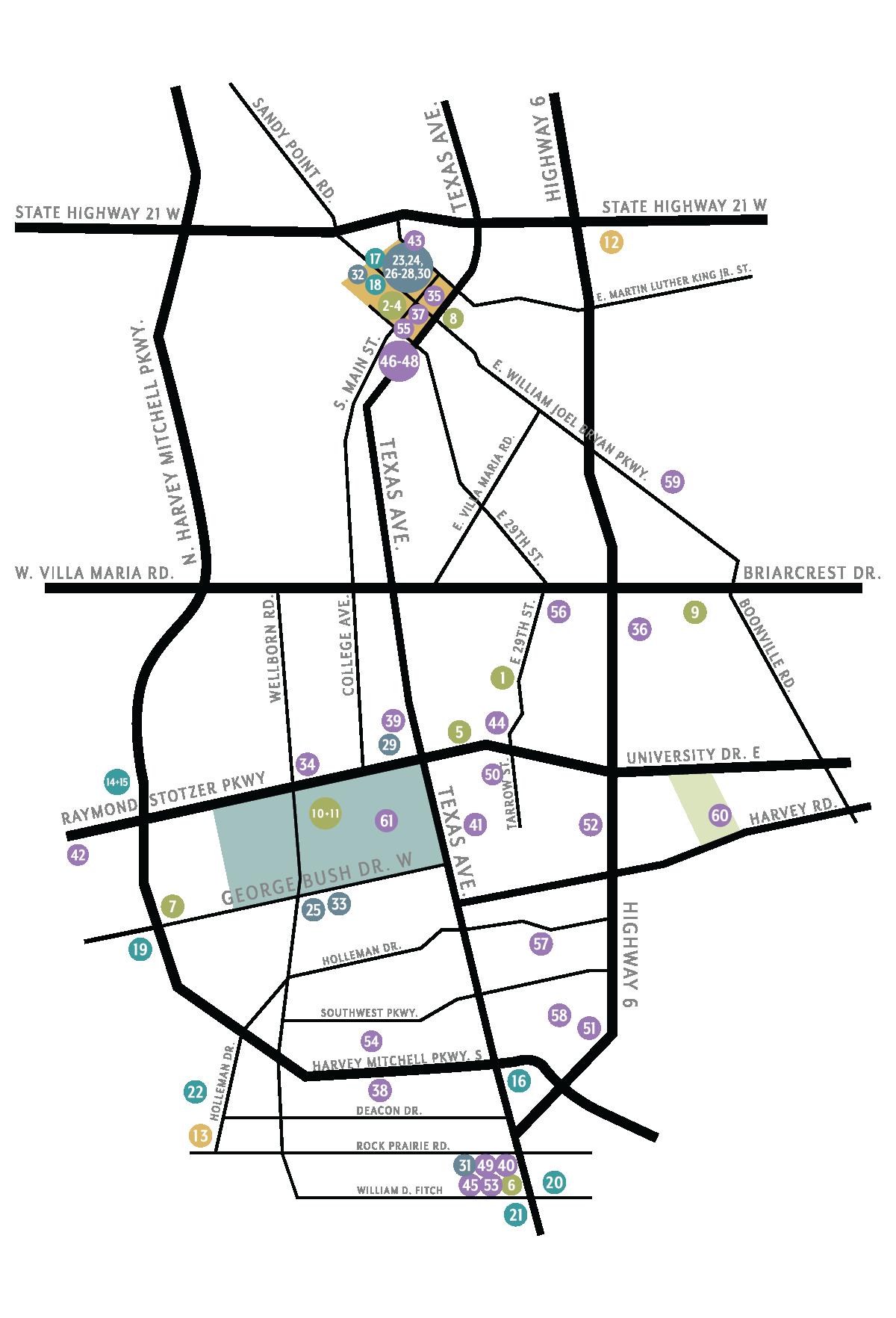 Aggieland Art Trail Map
